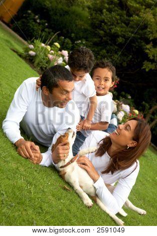 Retrato de la vida familiar