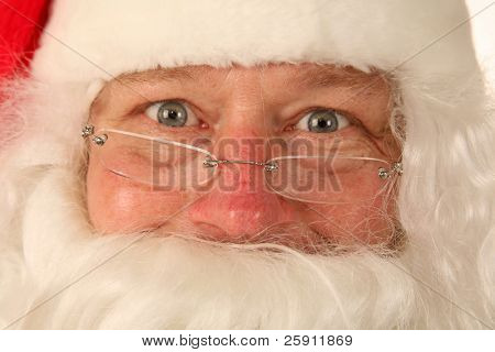 Santa Claus portrait close up