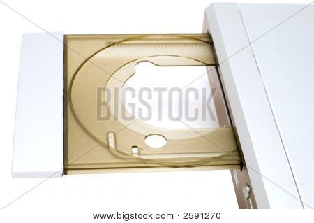 Dvd Player On White