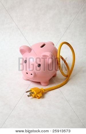 an energy hog on a white background
