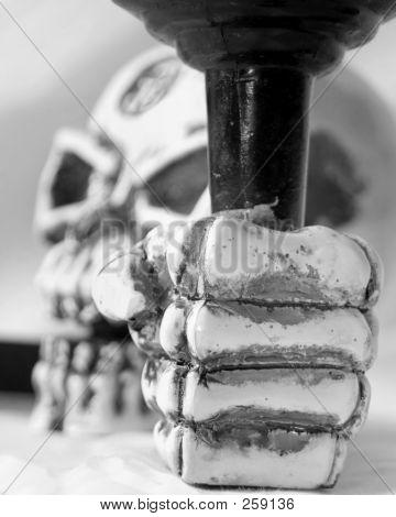 Skeleton Head Blur Bw F