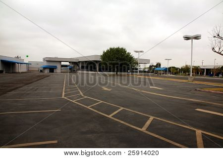 an empty car dealership  state of the economy series