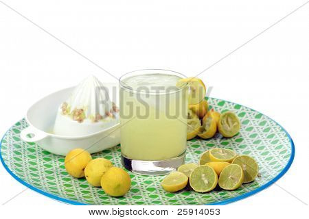Fresh Squeezed Lemonade isolated on white