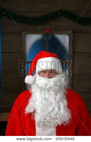 Classic Portrait of Santa Claus at his house in the North Pole