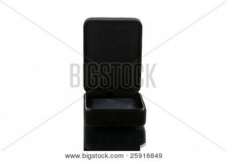 black jewlery box, isolated on white
