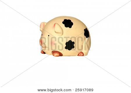 piggy bank isolated on white