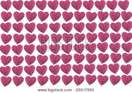 pink rose heart background
