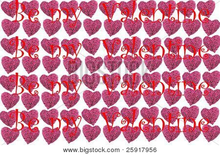 pink rose heart background with