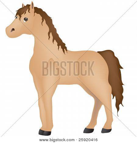 Cartoon Palomino Pony