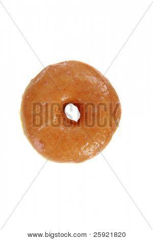 fresh glazed donut isolated on white