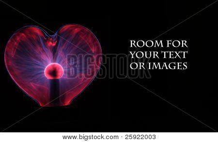 Heart shaped plasma ball with