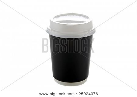 Disposable coffee cup. isolated on white