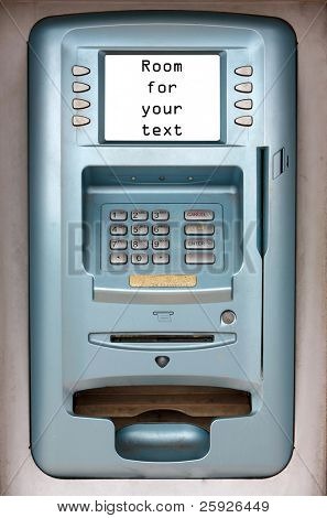 "atm ""automatic teller machine"" isolated on white with room for your text"