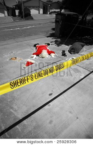 OH MY GOD! Someone SHOT SANTA CLAUS in a Drive By Shooting!  Santa Claus falls victim to violence and is killed. Sheriff and CSI are investigating who could have done such a dastardly dead.