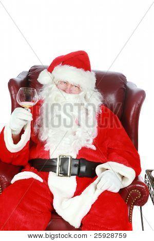 Santa Claus raises a toast of