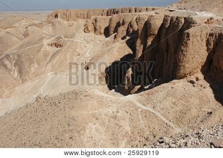 Valley of the Kings near Luxor (Thebes), Egypt, where the tombs of the New Kingdom's pharaohs were found