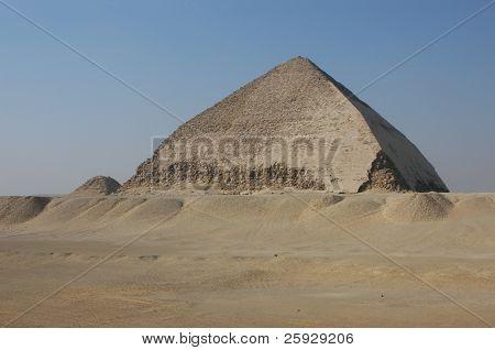 Bent Pyramid of Snofru in Dahshur near Cairo, Egypt