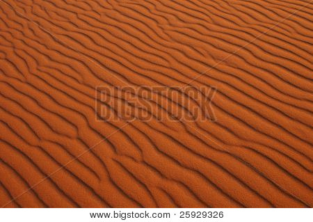 Sand dunes of Erg Chebbi in the Sahara Desert near Merzouga, Morocco.