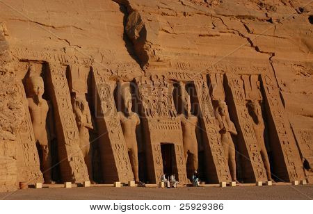 Hathor Temple of Queen Nefertari in Abu Simbel near Aswan, Egypt