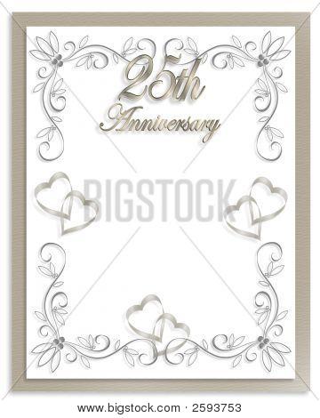 25Th Anniversary Card Canvas