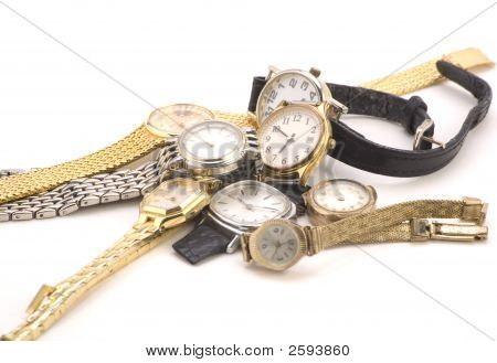 Multiple Wrist Watches