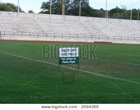 Bleachers And Sign