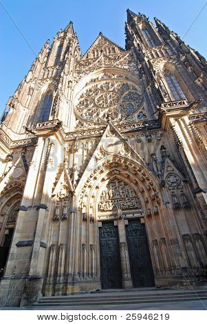 Cathedral of Saint Vitus in Prague in the Czech Republic