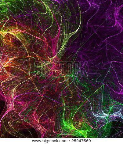 Spece full of colors - colorful fibres nebula