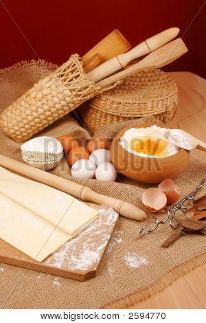 Bäckerei Zutaten Vorbereitung