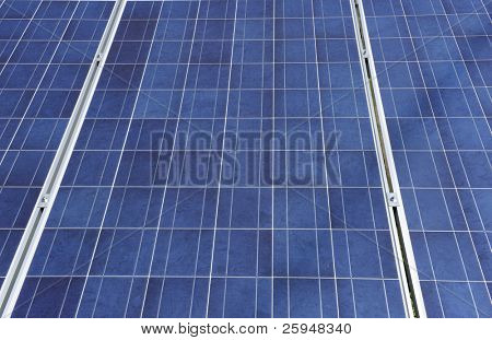 Detailed background of a big solar panel
