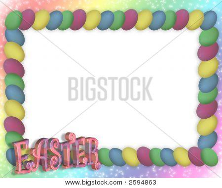 Easter Egg Frame Rainbow