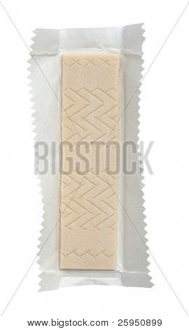 Chewing gum on its wrapping paper