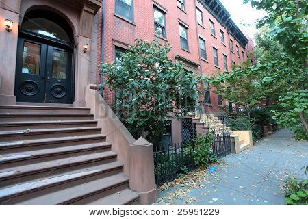 Casas de piedra rojiza de Brooklyn Heights