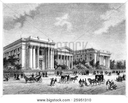 New Orleans University in the 1880s. Illustration originally published in Hesse-Wartegg's