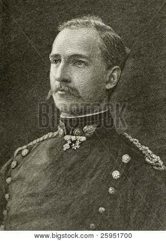 King George I of Greece, King of the Hellenes. Engraving ftom Harper's Monthly Magazine may 1881.