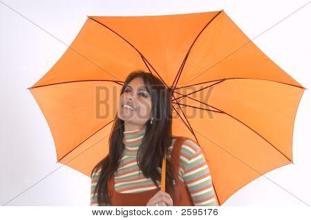 Girla And Umbrella