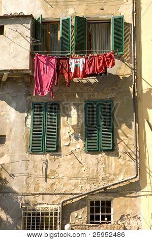 Washing Drying In The Mediterranean Sun