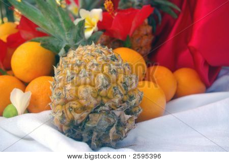 Bouquet Arrangement Of Fruits In A Tropical Resort