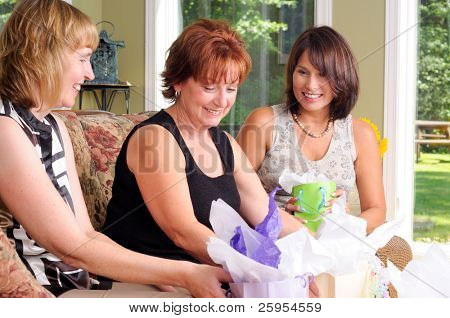 Lucky Birthday Girl Getting Gifts From Her Friends