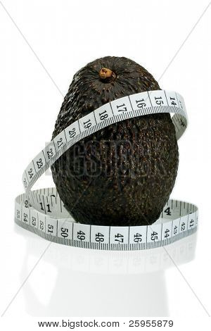 A Mexican Hass Avocado With A Metric Tape Measure, Concept For Healthy Eating