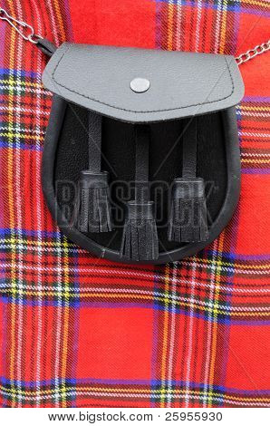 Royal Stuart Tartan Scottish Kilt And Sporran