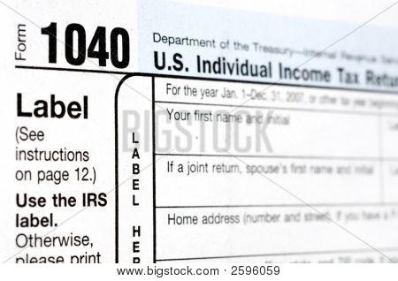 Formulário de imposto 1040