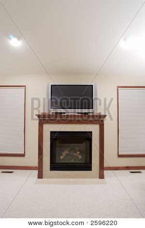 Fireplace and Plasma TV