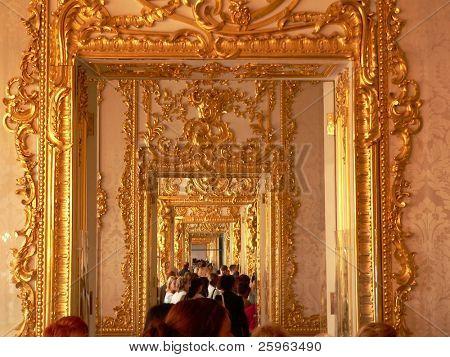 Katherine's Palace corridor in Tsarskoe Selo (Pushkin), Russia