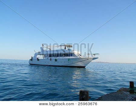 Travel boat in Red Sea (Egypt)