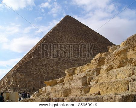 Pyramid of Cheops in Giza, near Cairo, Egypt