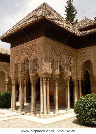 Beautiful arches of Alhambra, Granada, Spain.