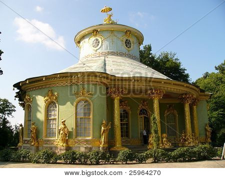 Chinese tea house in Potsdam, Berlin, German, Europe.