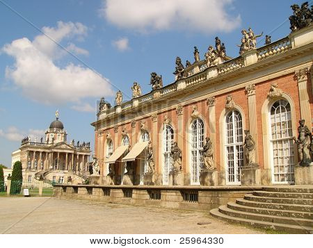 Sans Souci palace in Potsdam, Berlin, Germany, Europe