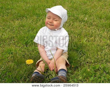 Very happy young boy